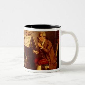 String Quartet Two-Tone Coffee Mug
