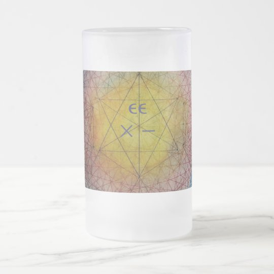 String Theory eg: G Frosted Glass Beer Mug