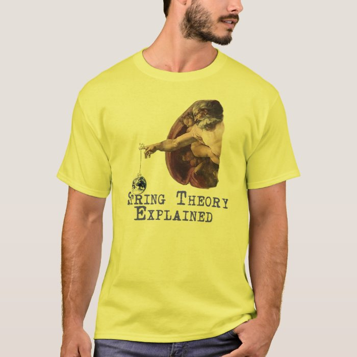 String theory explained t shirt zazzle for Men s shirt sizes explained