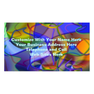 String Theory Shimmering Abstract Business Card Template