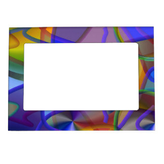 String Theory Shimmering Abstract Magnetic Frame