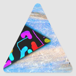 String theory universe triangle sticker