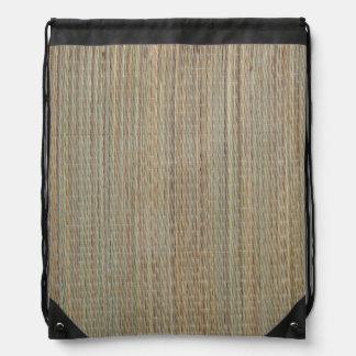 StringBag: Straw Mat Drawstring Bag