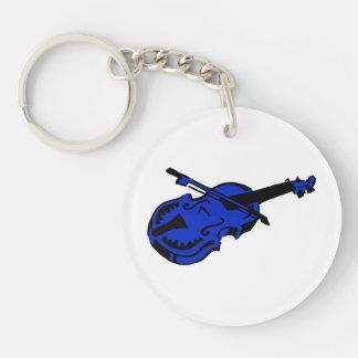 Stringed black blue instrument violin bow image.pn keychain