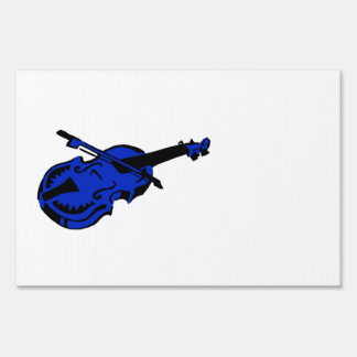 Stringed black blue instrument violin bow image pn lawn signs