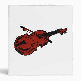 Stringed black dark red instrument violin bow imag 3 ring binder