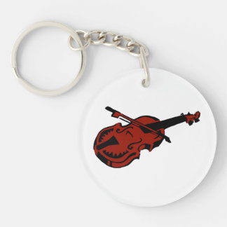 Stringed black dark red instrument violin bow imag keychain