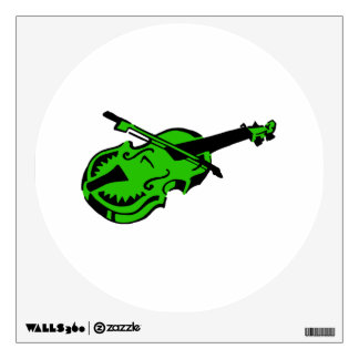Stringed black green instrument violin bow image.p wall decal