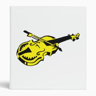 Stringed black yellow instrument violin bow image. 3 ring binder