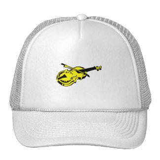 Stringed black yellow instrument violin bow image. trucker hat