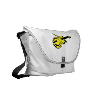 Stringed black yellow instrument violin bow image. messenger bag