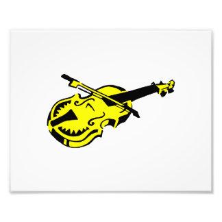 Stringed black yellow instrument violin bow image. photo print