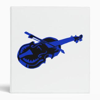 Stringed blue black instrument violin bow image.pn 3 ring binder