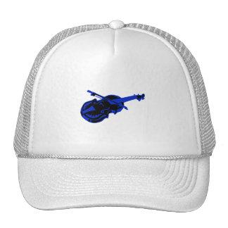 Stringed blue black instrument violin bow image.pn trucker hat