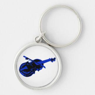 Stringed blue black instrument violin bow image.pn keychain