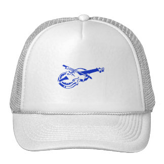 Stringed blue instrument violin bow image.png trucker hat