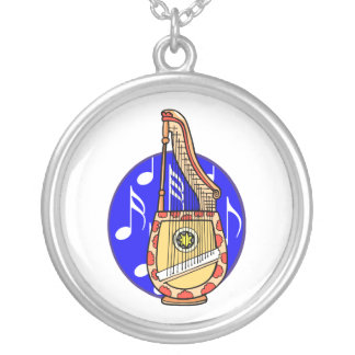 Stringed Harp Guitar Cross Instrument Necklaces