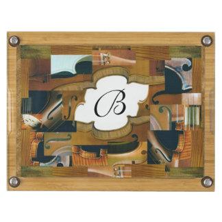 Stringed Instrument Components Custom Monogram Cheese Board