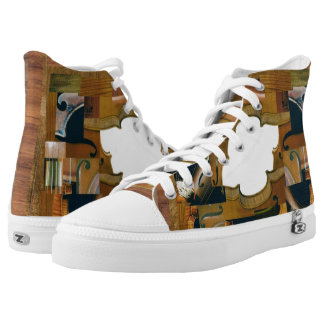 Stringed Instrument Elements Window Printed Shoes