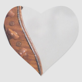Stringed Instrument Indian Head Heart Stickers