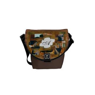 Stringed Instrument Lotus Center Monogram Messenger Bag