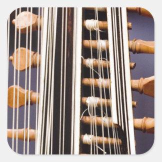Stringed Instrument V Square Sticker