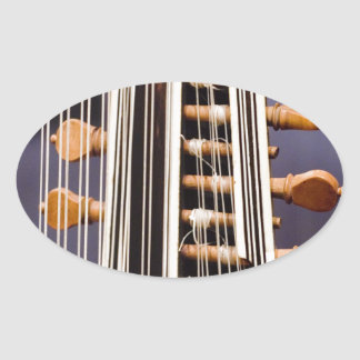 Stringed Instrument V Oval Stickers