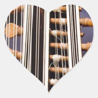 Stringed Instrument V Heart Sticker