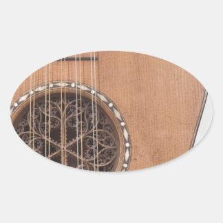 Stringed Instrument VI Oval Stickers