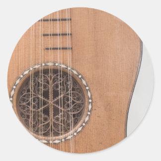Stringed Instrument VI Round Stickers