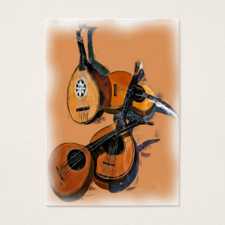 Stringed Musical Instruments in Oil, Blurred Edge Business Card