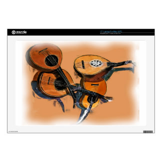 Stringed Musical Instruments in Oil, Blurred Edge Laptop Skin