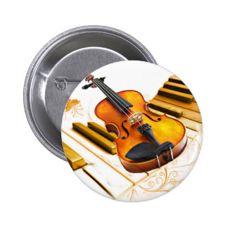 Strings and Keys_ 2 Inch Round Button