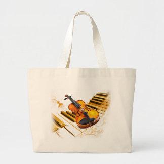 Strings and Keys_ Large Tote Bag