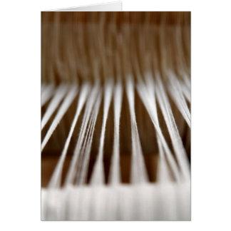 Strings in a loom card