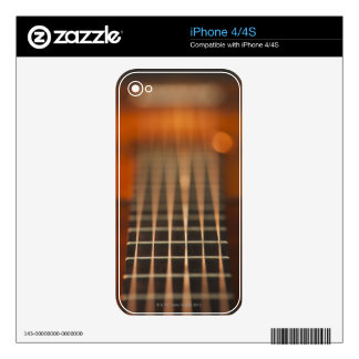 Strings of Acoustic Guitar Decal For iPhone 4