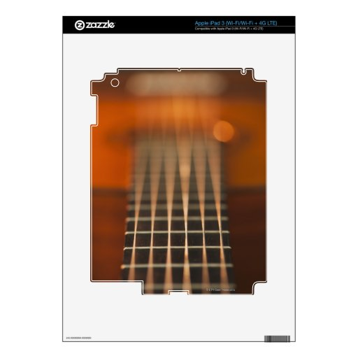 Strings of Acoustic Guitar iPad 3 Skin
