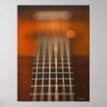 Strings of Acoustic Guitar Poster