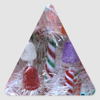 Strings of Candy Triangle Sticker