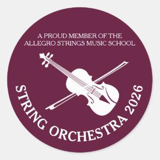 Strings school violin musical concert stickers