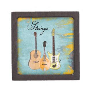 Strings-Three Instruments Keepsake Box