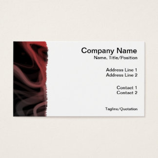Stringy Red Abstract Business Card