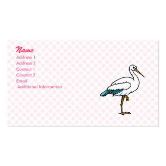 Stringy Stork Double-Sided Standard Business Cards (Pack Of 100)