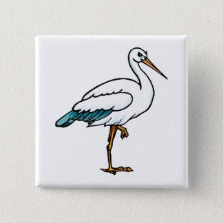 Stringy Stork Pinback Button