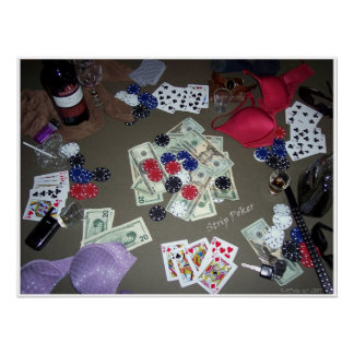 Strip Poker in Color Poster