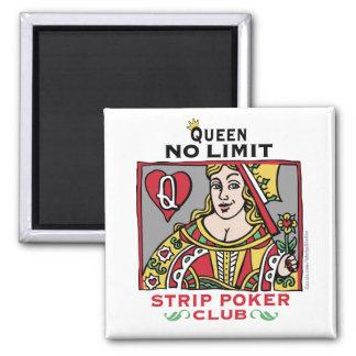 Strip_poker_queen_zazzle 2 Inch Square Magnet
