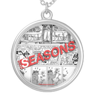 Strip Seasons: ciondolo in argento Round Pendant Necklace