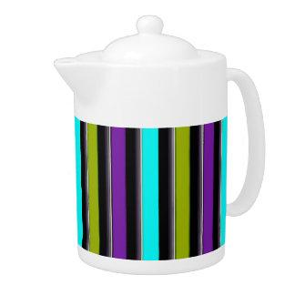 Stripe 3 teapot