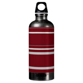 stripe aluminum water bottle