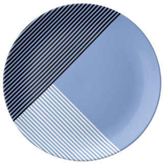 Stripe Art...Choose Your Own Accent Color. Plate